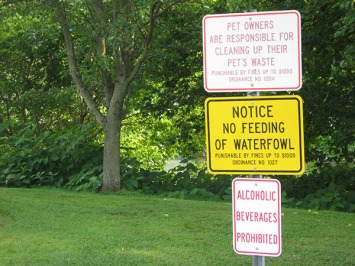 Admonitory signs