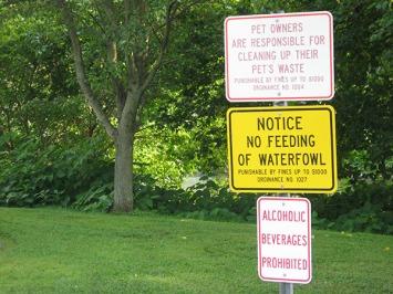 Admonitory signs
