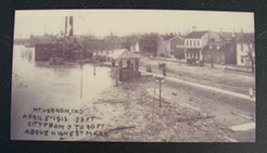 Gazebo in 1913 flood