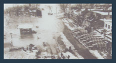 Gazebo in 1937 flood aerial view