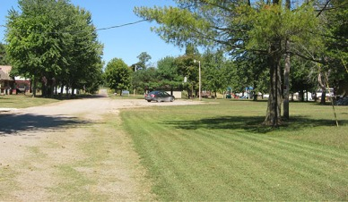 The grass that was being mowed.