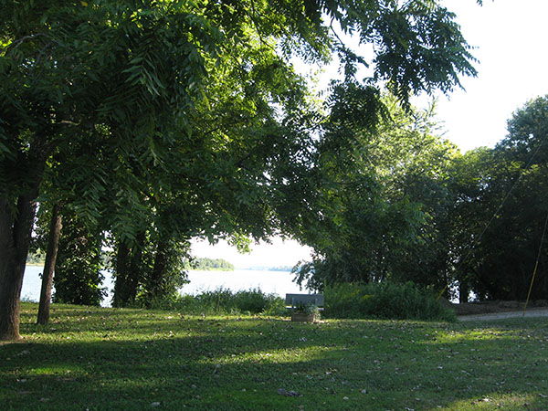 View from memorial bench
