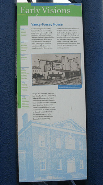 information: vance-tousey house