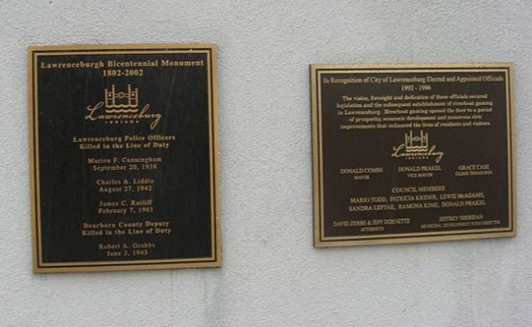 memorials and responsible officials