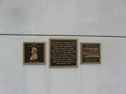 plaque: flatboat pioneer families