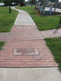sidewalk of history plaques