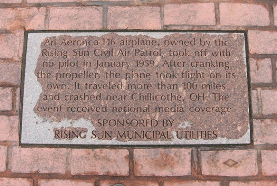 plaque: airplane