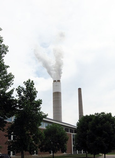 power plant smokestack