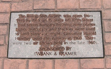 plaque: airport