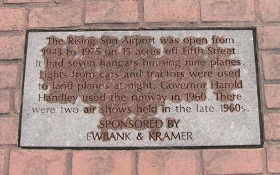 plaque: airport