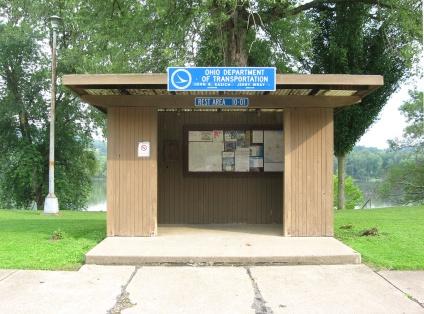 sign and kiosk