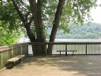 deck overlooking river