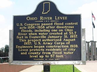 Ohio River levee