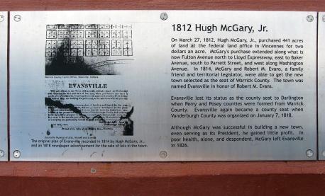 1812 plan of Evansville