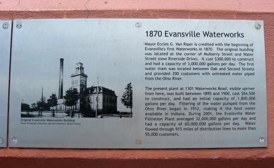 1870 Evansville waterworks