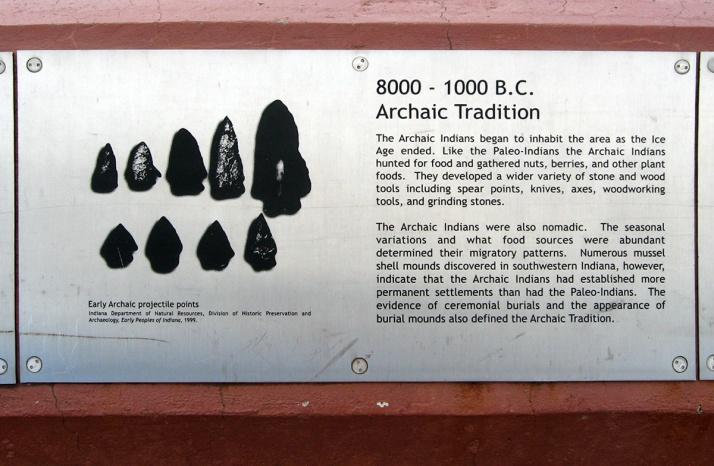 8000 BCE archaic Indians