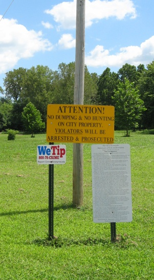 admonitory sign