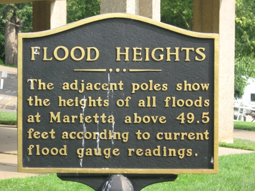 heights of Ohio River floods