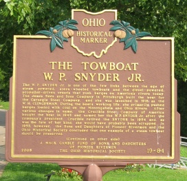 historical marker: towboat