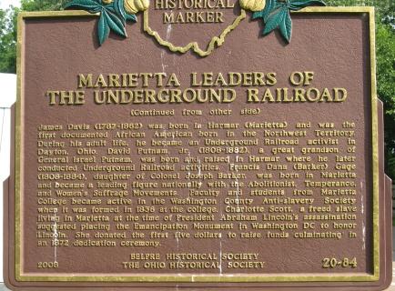 historical marker: underground railroad