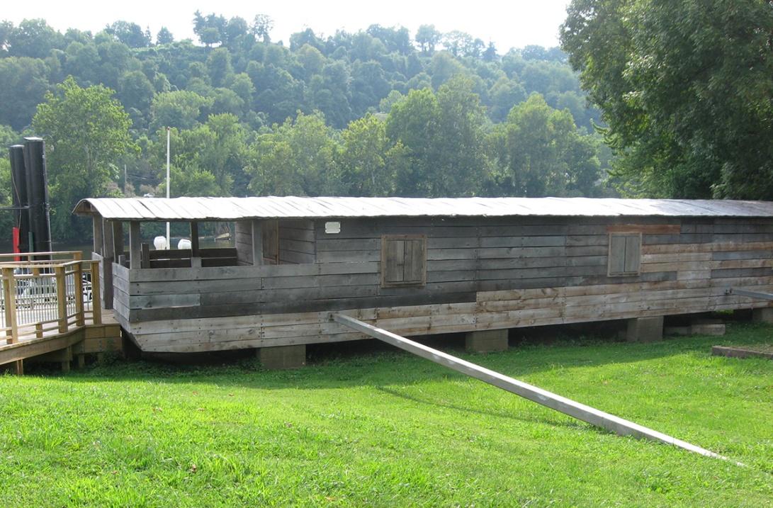 OH Washington Marietta Ohio River Museum shanty boat