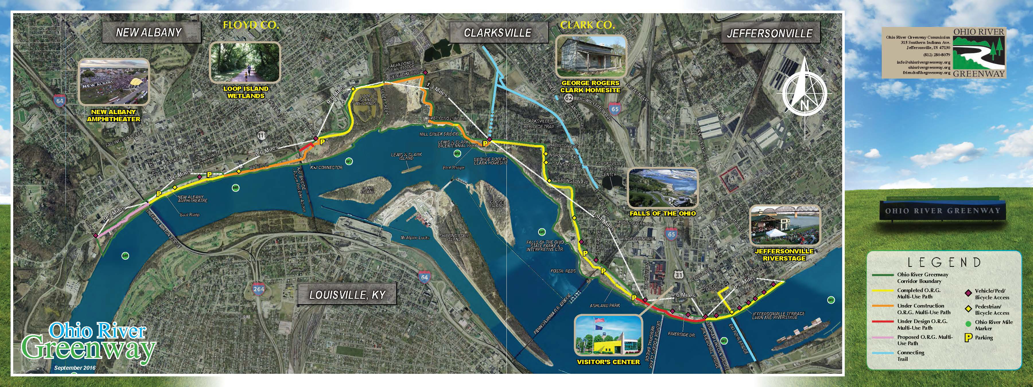Falls Of The Ohio Map.Greenway Ohio River Greenway Jeffersonville Clarksville New