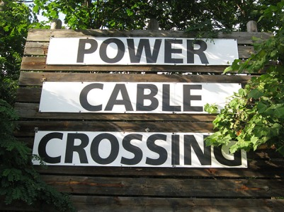 power cable crossing