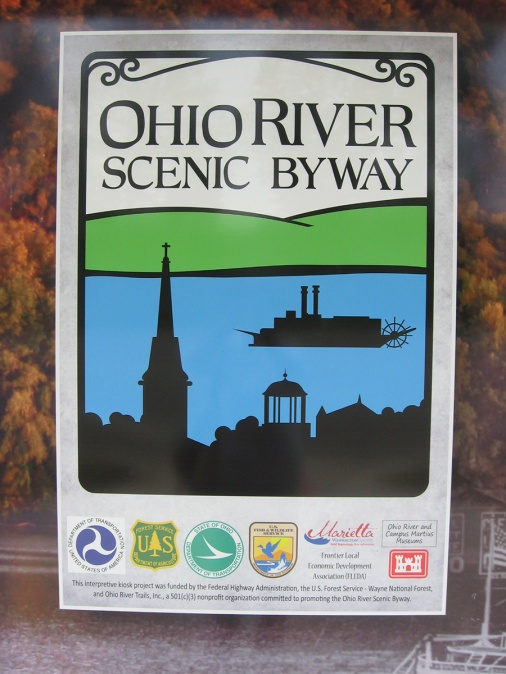 gorgeous graphic for the Ohio River Scenic Byway