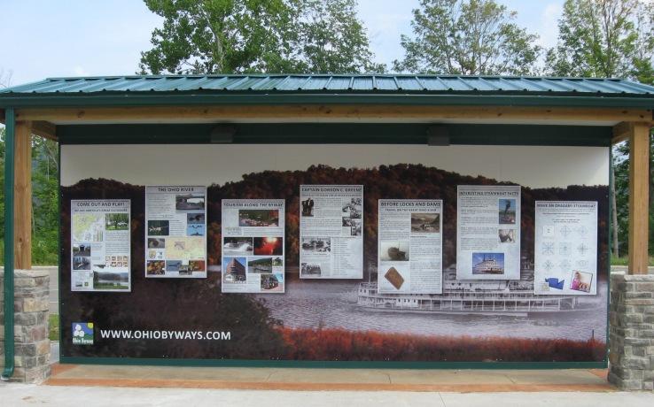 front of kiosk