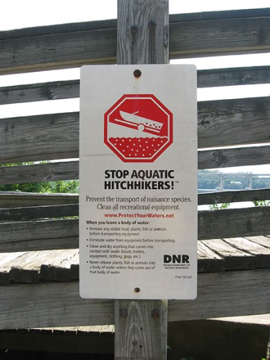 STOP AQUATIC HITCHHIKERS!