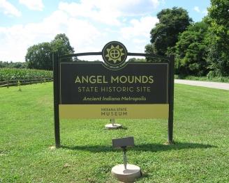 IN Vanderburgh Angel Mounds SHS sign