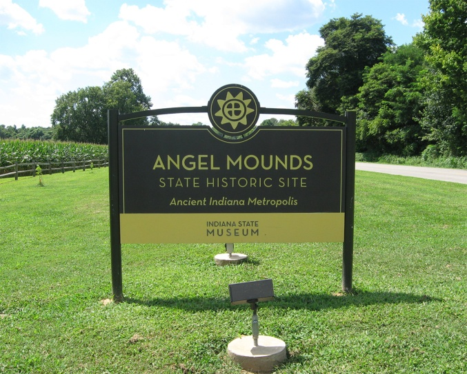 IN Vanderburgh Angel Mounds SHS sign