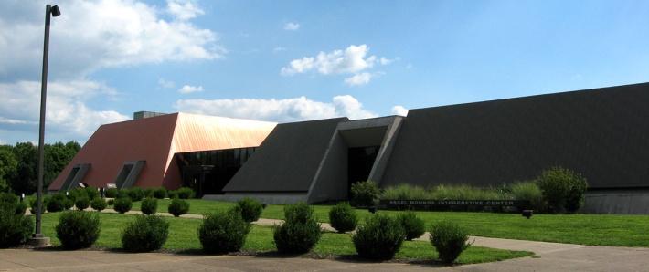 interpretive center in shape of mounds