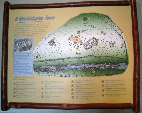map of Mississippian town