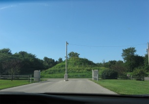 mound opposite entrance