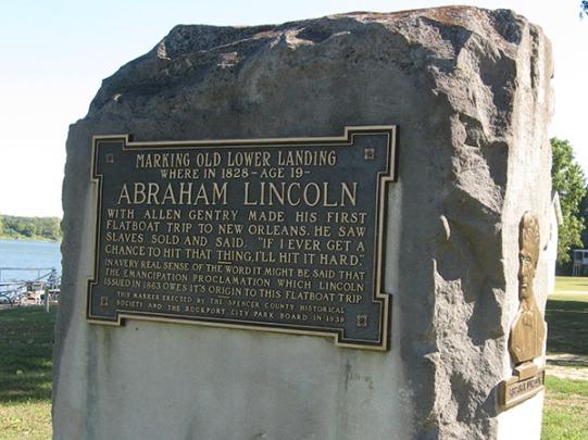 Lincoln flatboat trip
