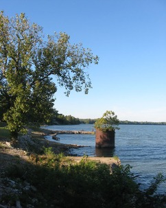 view upriver